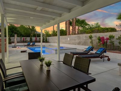 Photo for Stylish and Spacious 4 Bedroom Pool + Spa Home in Palm Springs