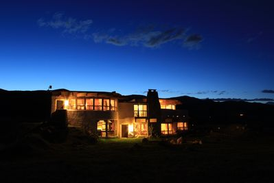 View of the SunHouse from the Backyard. Panoramic Views of Mountains All Around!