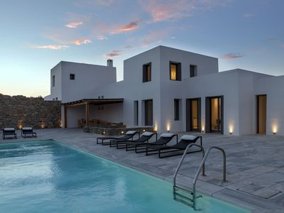 Photo for VACATION JUST GOT BETTER. Blue Heaven Excellent Villa Mykonos 5br 10guests Private Pool