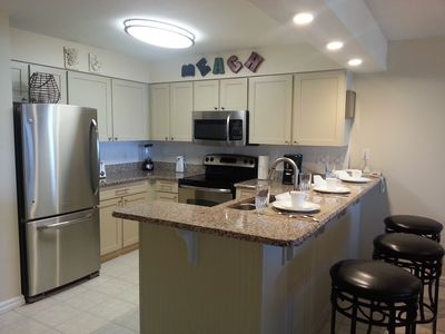 Updated - Fully Equipped Chef's Kitchen with an awesome panoramic beach views.