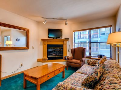 Photo for Great studio condo, 1 block from Main Street - shared pool and hot tub!