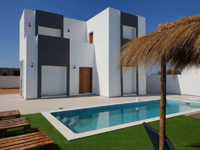 Photo for Luxury villa with private pool not overlooked and view of the panoramic beach