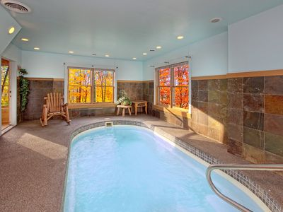 Photo for Private Indoor Pool cabin - sleeps 8