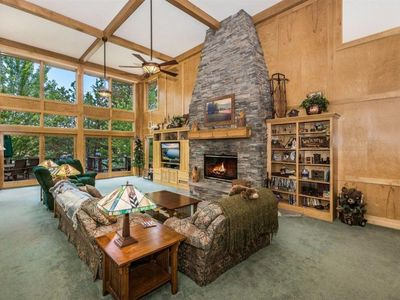 Photo for WATERFRONT MANOR - luxury, 4 bdrm, lakefront property with deep water dock!