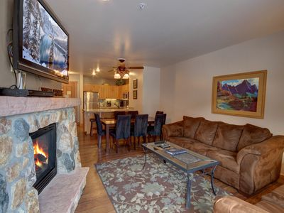 Photo for This large 2 bedroom 3 bathroom in Expedition Station is located in River Run Village at Keystone Resort. With views to the ice skating rink and the ski slopes. Enjoy the proximity of all the restaurants, shops as well the gondola!