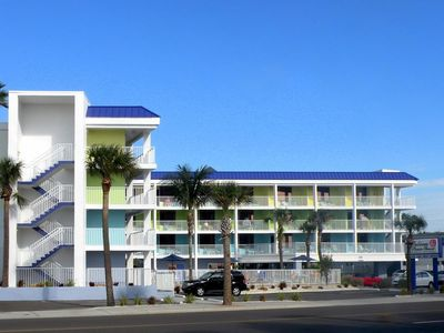 Photo for Pelican Pointe Condo/Hotel Unit #113 Affordable Efficiency in the Heart of Clearwater Beach!