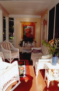 Relax on the front porch - your outdoor living room