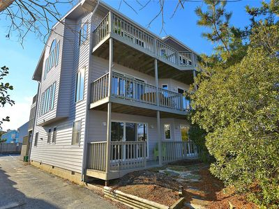 Photo for LINENS & DAILY Activities INCLUDED*!. Ocean Block with Ocean and Bay Views from deck in Dewey Beach.  4 bedroom, 3.5 bath townhouse