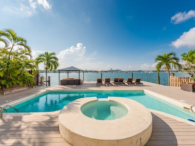Photo for Centrally located, spacious 5bd/4.5ba waterfront home with swimming pool.