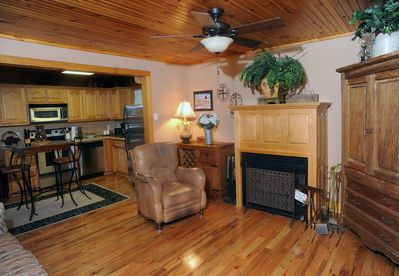 OPEN FAMILY ROOM AND KITCHEN