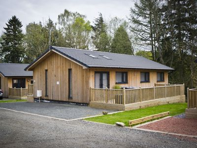 Photo for The Hideaway - stunning 3 bedroom lodge with top of the range hot tub
