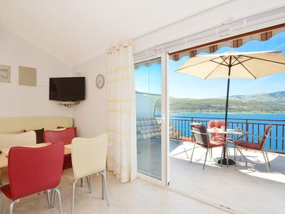 Photo for Beautiful terrace, only 100m from the beach