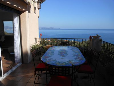 Photo for Sea View Villa Les Issambres 240 Degrees