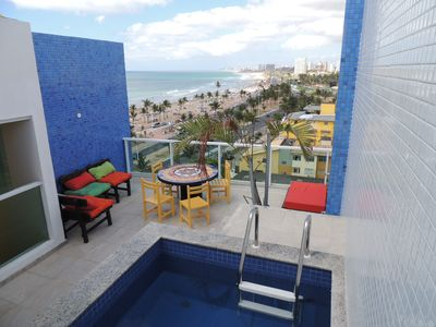 Photo for novissima duplex penthouse in front of beach piata