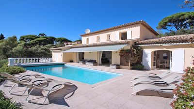 Photo for Villa T8 - 10 people - Sea view - Private pool - Air conditioning - WiFi - Sainte Maxime