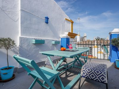 Photo for Nice Studio with Terrace in the heart of the city - Wifi - A / C