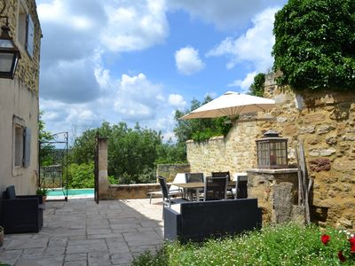 Photo for At the top of the Village, heated swimming pool and unobstructed view