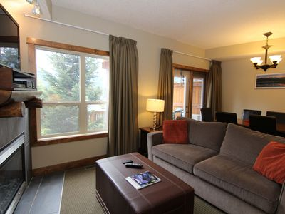Photo for Mountain Views in Canmore | Fireplace + Shared Outdoor Hot Tub