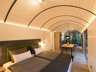 Photo for Luxury apartment in a railroad car - luxury apartment in a railway carriage