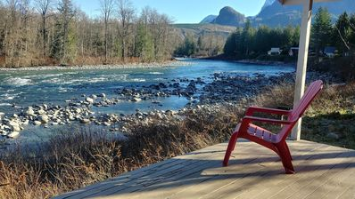 Photo for SKY River Home... romantic cabin on the river w/ sweeping mountain views
