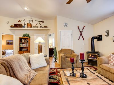 Photo for NEW >> Cozy Open Concept Cabin in the Pines, Near Flagstaff, Sledding and Sedona