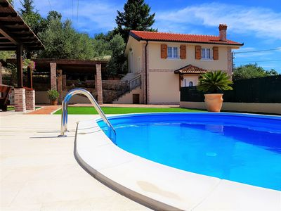 Photo for Pool and view of the Kvarner Bay - Villa Oliva Rustica