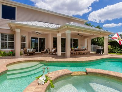 Photo for Beautiful Home near Edison Estate in  Fort Myers, minutes from river and Gulf, oversized pool with 2