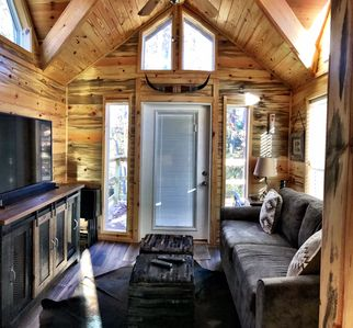 Photo for Summer Savings on Luxury Tiny Cabin that Sleeps 8 in the Heart of Hochatown!