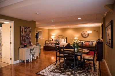 photo showing the entire Hideaway Suite