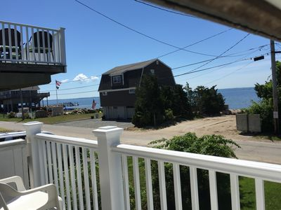 Photo for Wonderful 2 bedroom cottage with OCEAN VIEWS ! Steps away from the BEACH.