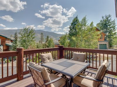 Photo for NEW LISTING! Spacious townhome with mountain views & jetted tub - skiing nearby