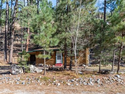 Photo for River's Edge Cabin: Cute, Cozy 2 Bedroom in the Heart of Ruidoso, RIGHT Across from the River!