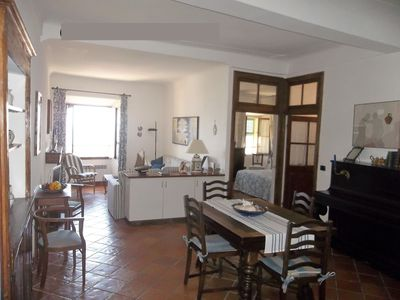 Photo for spacious apartment sleeps 6, full historic center, sea view, terrace