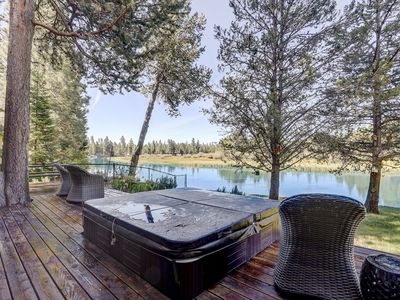 Photo for 55617 Big River - Spectacular River Front Home, Hot Tub, Ping Pong, South of Sunriver Resort