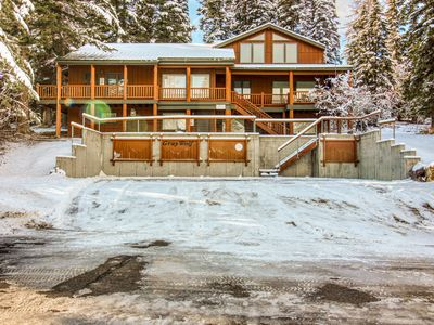 Photo for Rustic condo w/ fireplace & beautiful ski and mountain views - walk to lifts!