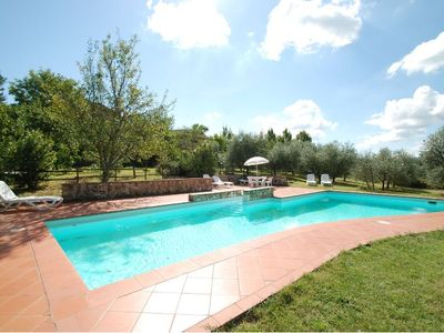 Photo for Independent stone house in a tranquil setting with stunning view over the countryside close to Siena