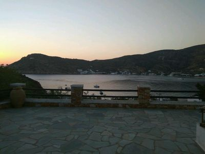 Photo for Cycladic villa with a magnificent view of Vathy bay in Sifnos island!!