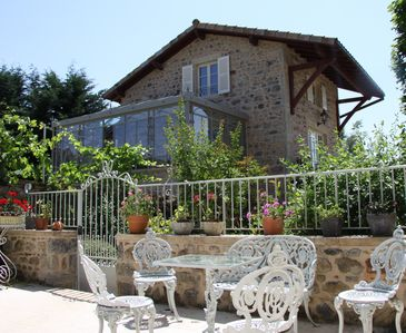 Photo for Charming 18th Century Stone Cottage with a Pool & Spa Near Beaujolais Vineyards.