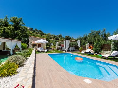 Photo for Maratho Villa, heated jacuzzi, mini golf & more! Full privacy!2 km to beach!