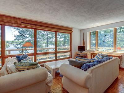 Photo for Secluded waterfront home on Lake Champlain w/lake views