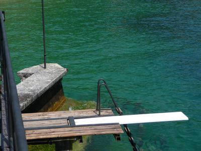 Photo for Lake Garda home with private garden. Direct access to the lake and small boat.