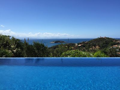Photo for Private luxury villa with pool and sea views. 200 meters from beach.