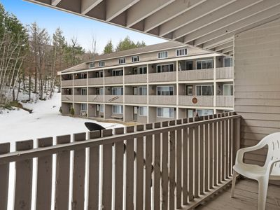 Photo for Ski-in/ski-out condo with shared pool & hot tub! Just steps away from ski lift!