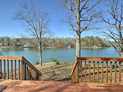 Photo for Lakefront Charlotte Cabin w/ Deck & Fire Pit!