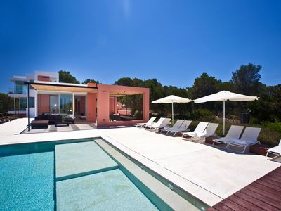 Photo for Modern Villa with Infinity Pool - Villa Es Calo