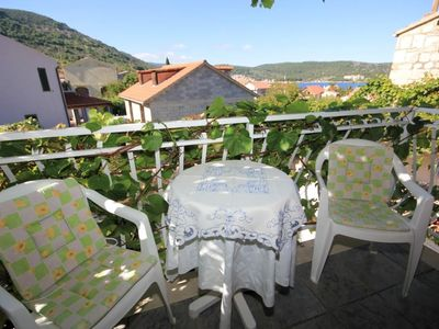 Photo for Studio flat with balcony and sea view Vis (AS-2476-d)