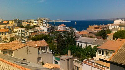 Photo for Charming apartment next to the restaurant PETIT NICE PASSEDA, Malmousque sea view