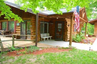 Log cabin provides a perfect place to relax and getaway