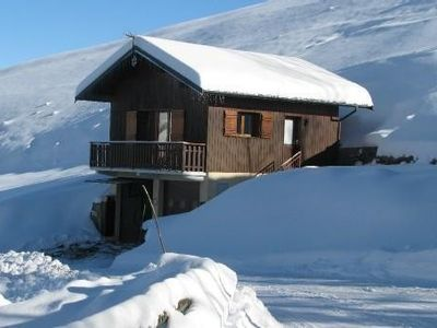 Photo for Valmorel Chalet Rental Savoy, on the slopes, access to 3 stations