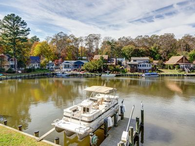 Photo for Lovely canalfront home w/ private dock, deck, patio & 2 bikes!